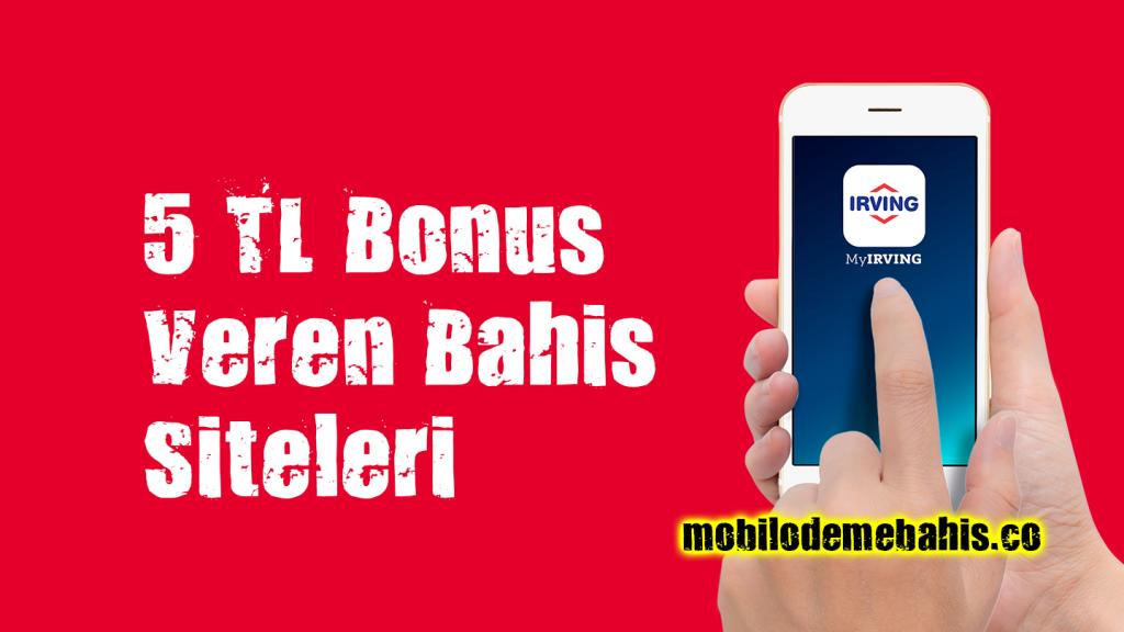 5 TL Bonus Veren Bahis Siteleri